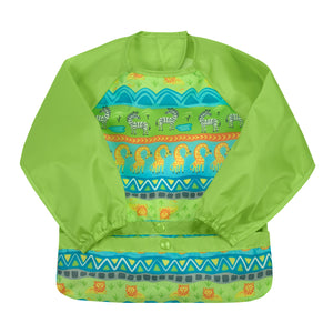Snap & Go™ Easy-wear Long Sleeve Bib (single) 12/24 mo -  Green Safari