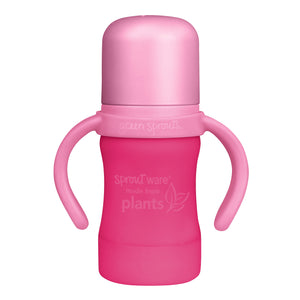 Sprout Ware Sippy Cup made from Plants-6oz-Pink-6mo+
