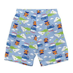 Classics Ultimate Swim Diaper Trunks-Light Blue Island Car