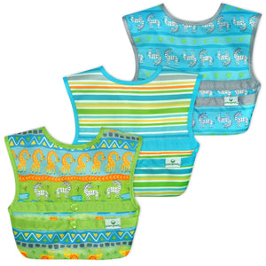 Snap & Go™  Easy-wear Bib (3 pack) 9-18 mo -  Green Safari