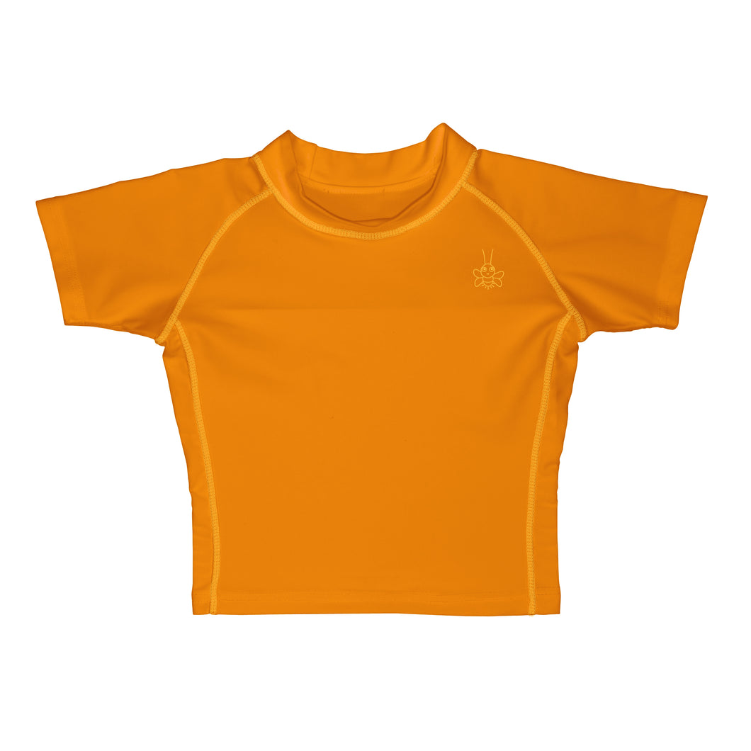 Short Sleeve Rashguard Shirt-Orange