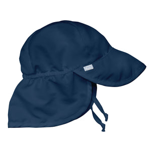 Flap Sun Protection Hat-Navy