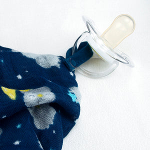 Snuggle Blankie Teether made from Organic Cotton-Blue Owl-3mo+