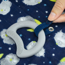 Load image into Gallery viewer, Snuggle Blankie Teether made from Organic Cotton-Aqua Fox-3mo+
