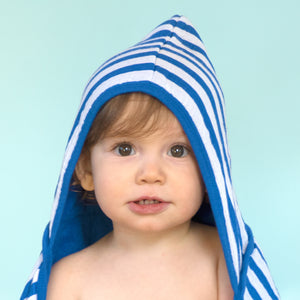 Muslin Hooded Towel made from Organic Cotton-White-0mo/4yr