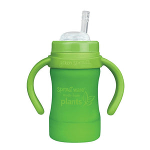 Sprout Ware Straw Cup made from Plants-6oz-Green-9mo+