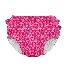 Load image into Gallery viewer, Mix & Match Ruffle Snap Reusable Absorbent Swimsuit Diaper-Fuchsia Cabana Geo
