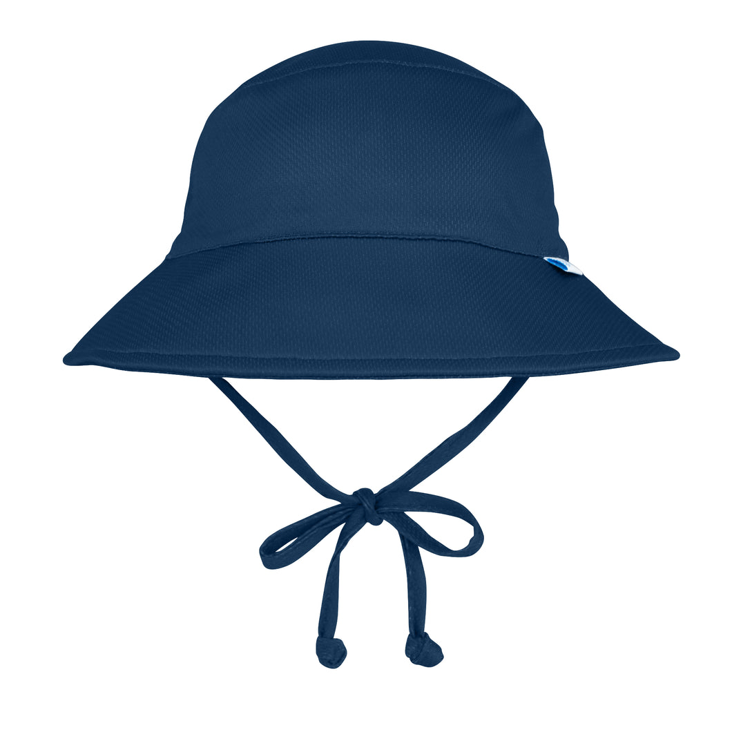 Breathable Bucket Sun Protection Hat-Navy