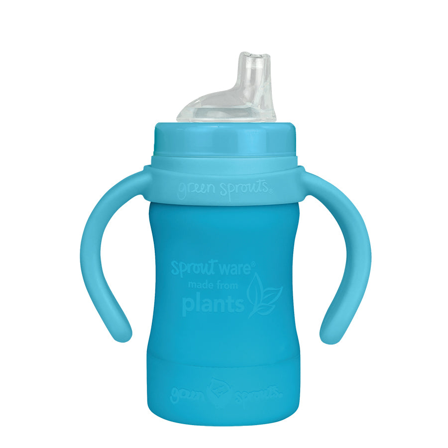Sprout Ware Sippy Cup made from Plants-6oz-Aqua-6mo+