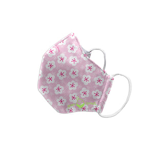 Reusable Face Mask Child-Pink Blossoms