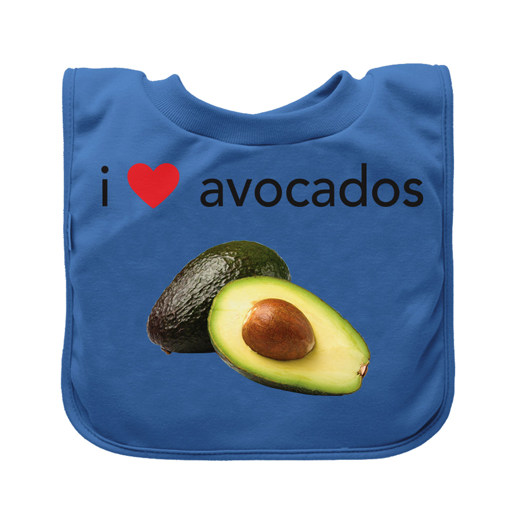 Pull-over Food bib (single)-Blue Avocados-9/18mo