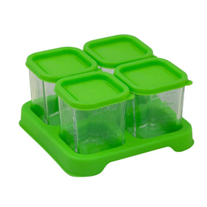 Fresh Baby Food Glass Cubes (4oz/4pk)-Green