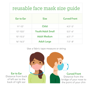 Reusable Face Mask Adult-Coral