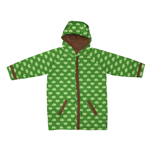 Mid Weight Raincoat-Green Hedgehogs