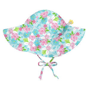 Brim Sun Protection Hat-Light Aqua Paradise Flower