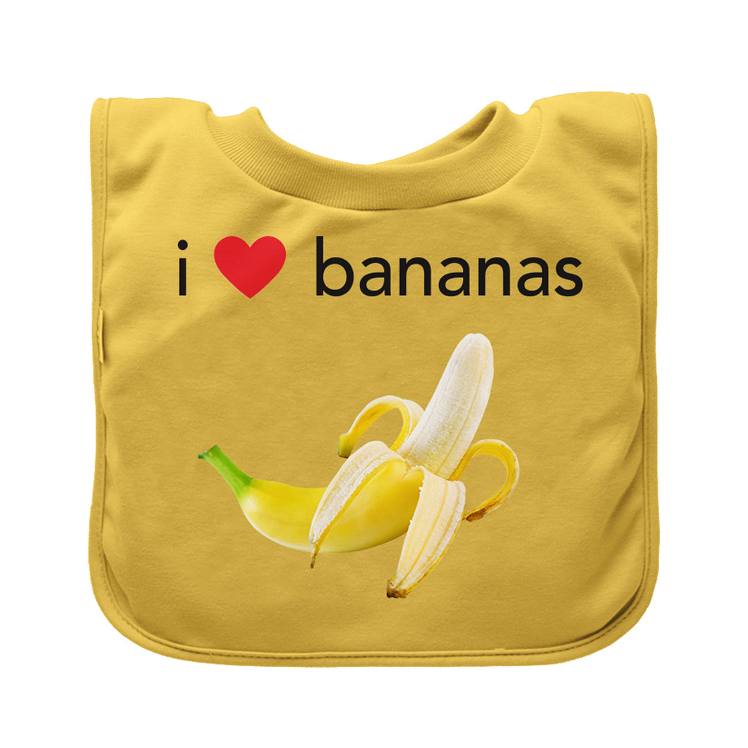 Pull-over Food bib (single)-Yellow Bananas-9/18mo