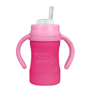 Sprout Ware Straw Cup made from Plants-6oz-Pink-9mo+