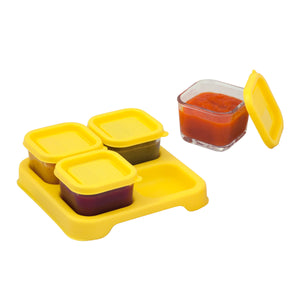 Fresh Baby Food Glass Cubes (2oz/4pk) - Yellow