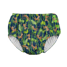 Load image into Gallery viewer, Tropical Snap Reusable Absorbent Swimsuit Diaper-Navy Monkey
