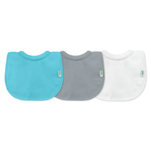 Load image into Gallery viewer, Stay-dry Milk Catcher Bib (3pk)-Aqua/Gray Set-0/6mo