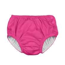 Load image into Gallery viewer, Snap Reusable Absorbent Swimsuit Diaper-Hot Pink