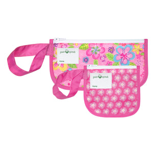 Reusable Snack Bags (2 pack)-Pink Flower Field