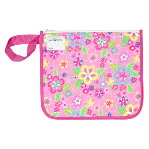 Reusable Insulated Snack Bag-Pink Flower Field