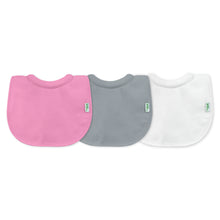 Load image into Gallery viewer, Stay-dry Milk-catcher Bib (3pk)-Pink/Gray Set-0/6mo