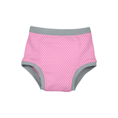 Reusable Absorbent Training Underwear-Light Pink Dot