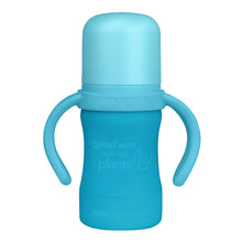 Load image into Gallery viewer, Sprout Ware Sippy Cup made from Plants-6oz-Aqua-6mo+