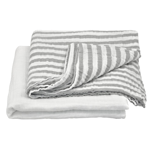 Muslin Swaddle Blanket made from Organic Cotton - Gray