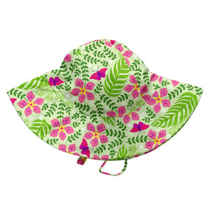 Tropical Brim Sun Protection Hat-Lime Palm Garden