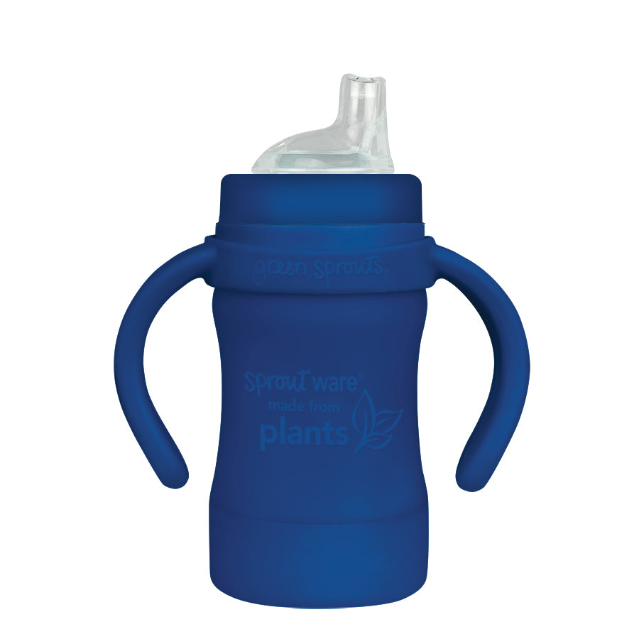 Sprout Ware Sippy Cup made from Plants-6oz-Navy-6mo+