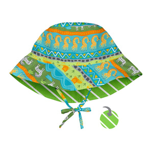 Mix & Match Reversible Bucket Sun Protection Hat-Green Safari