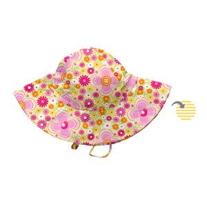 Mix & Match Reversible Brim Sun Protection Hat-Yellow Fiesta Floral