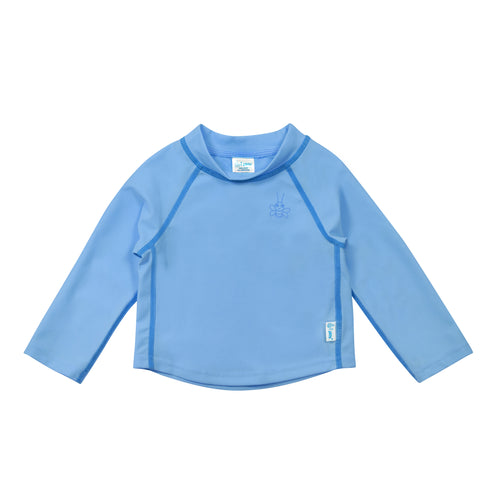 Long Sleeve Rashguard Shirt-Light Blue