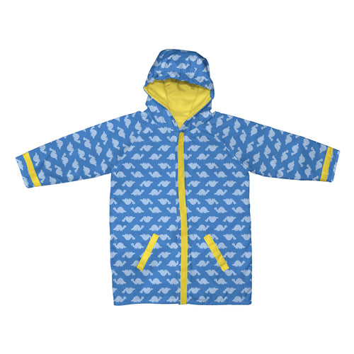 Mid Weight Raincoat-Blue Dino