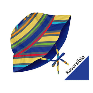 Mix and Match Reversible Bucket Sun Protection Hat - Royal Multistripe