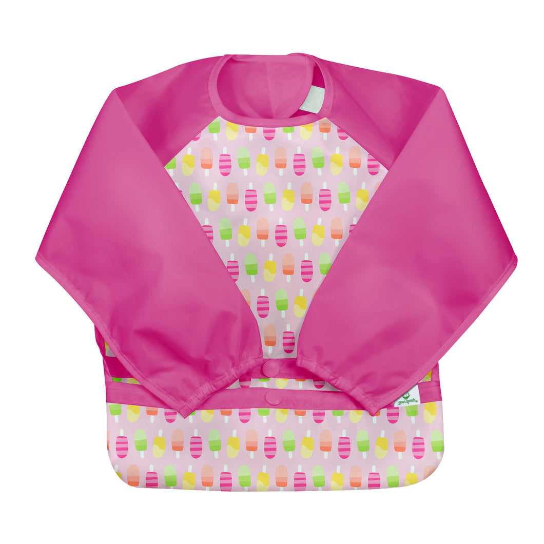 Snap & Go Easy-wear Long Sleeve Bib-Pink Popsicles-12/24mo