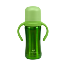 Load image into Gallery viewer, Sippy Cup made from Stainless Steel- 6oz-Green-6mo+