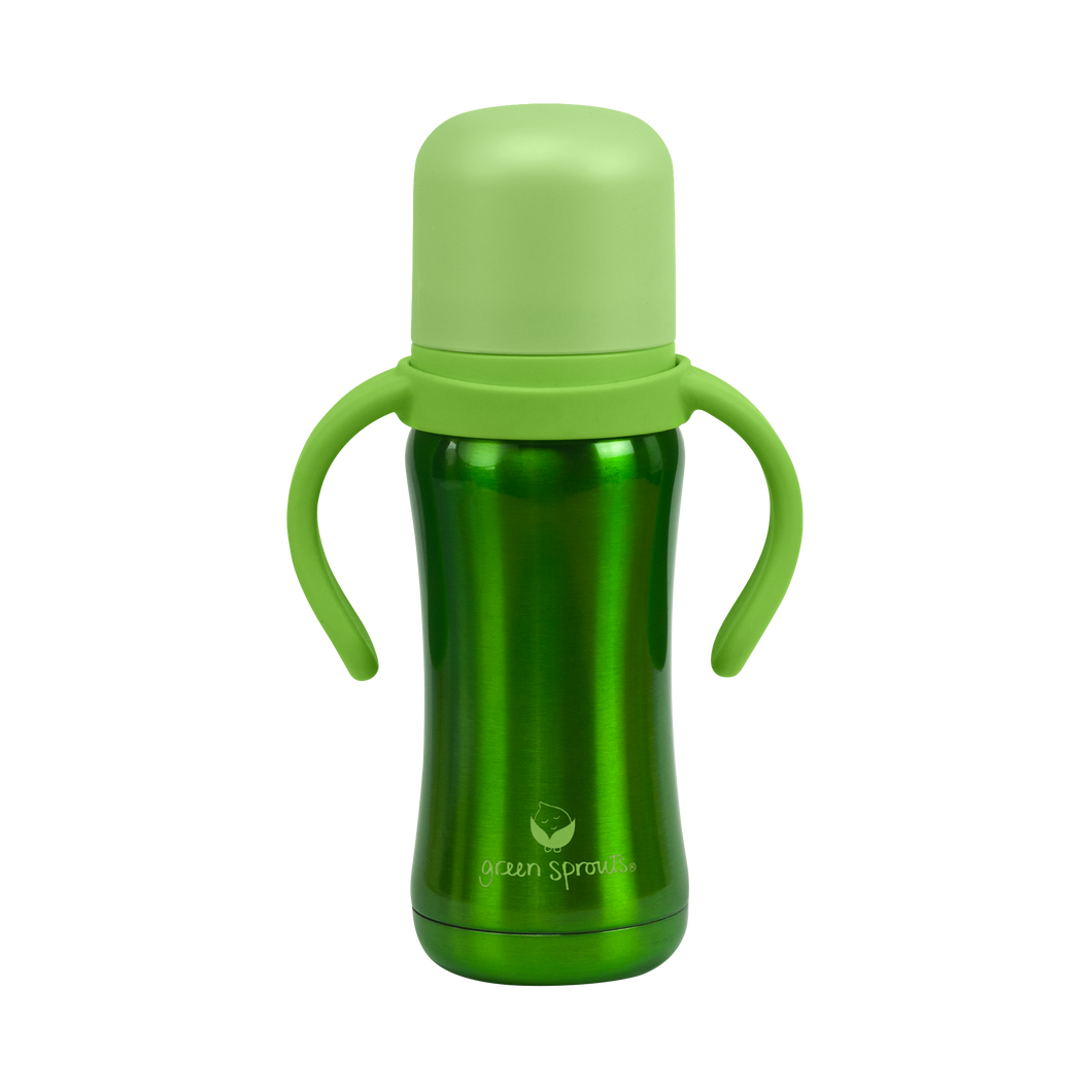 Sippy Cup made from Stainless Steel- 6oz-Green-6mo+