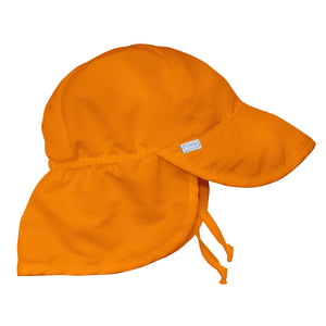 Flap Sun Protection Hat-Orange