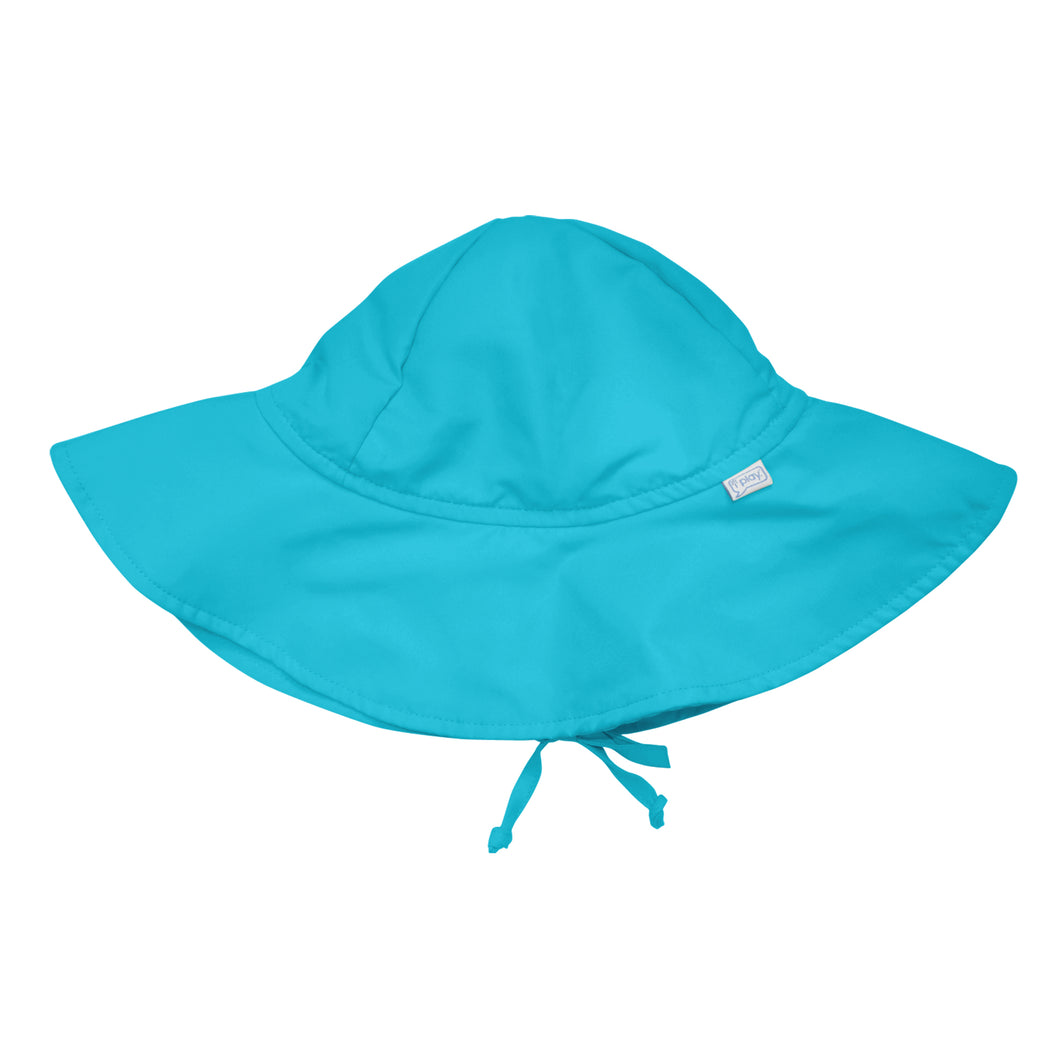 Brim Sun Protection Hat-Aqua