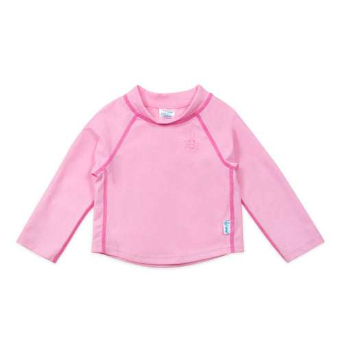 Long Sleeve Rashguard Shirt-Light Pink