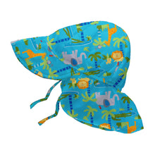 Load image into Gallery viewer, Flap Sun Protection Hat-Aqua Jungle