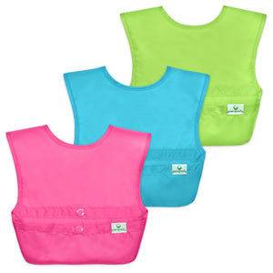 Snap & Go™  Easy-wear Bib (3 pack) 9-18 mo - Pink Set