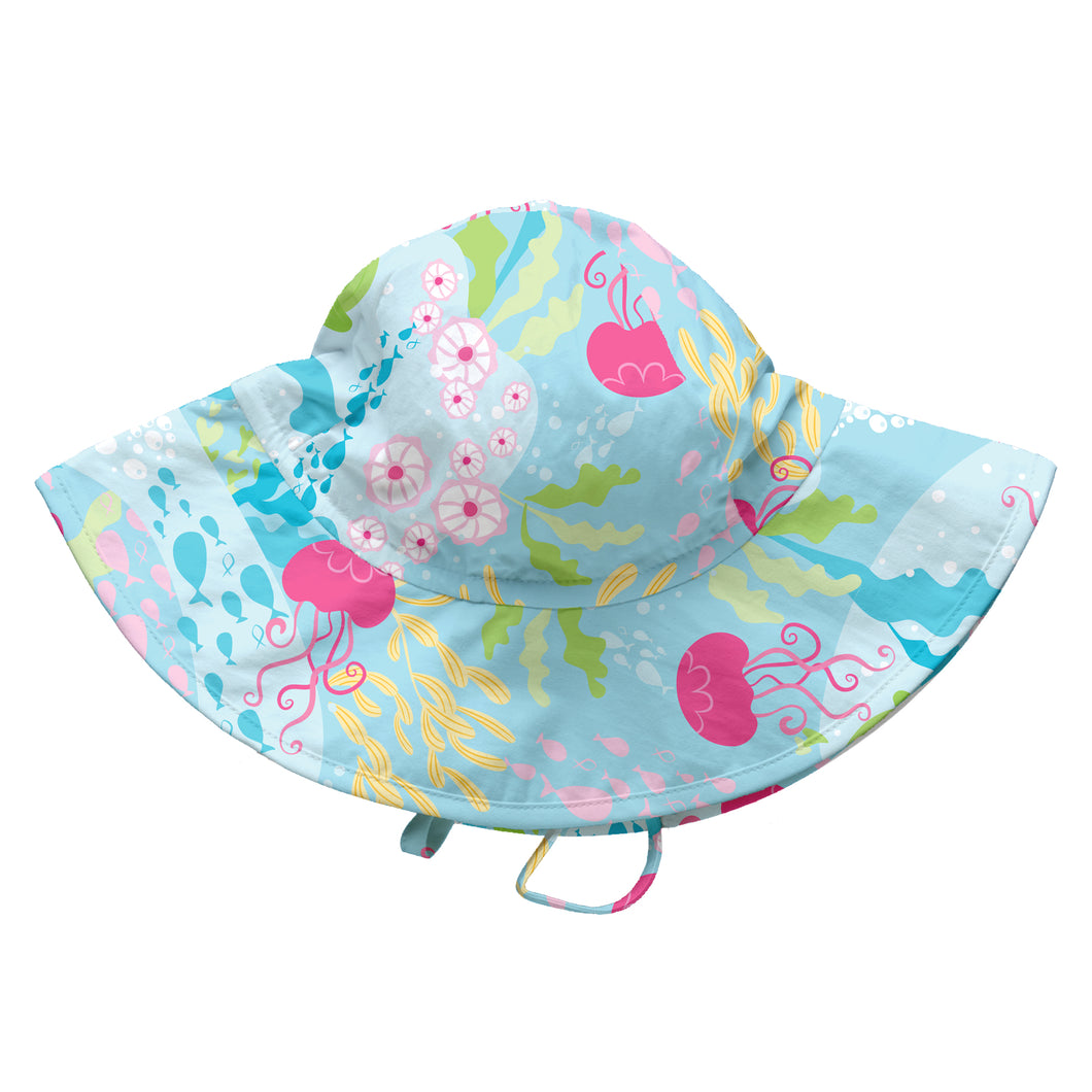 Fun Brim Sun Protection Hat-Aqua Coral Reef