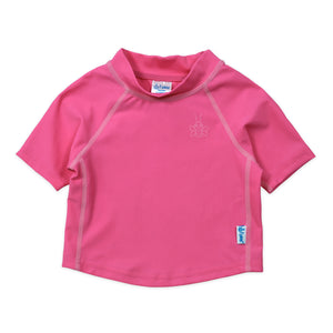 Short Sleeve Rashguard Shirt-Hot Pink