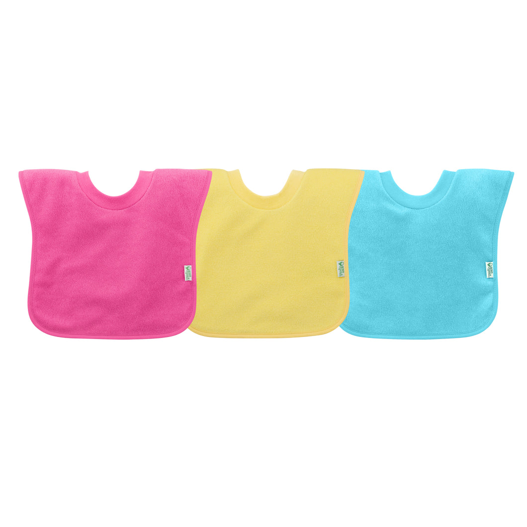 Pull-over Stay-dry Toddler Bib (3pk)-Pink Set-9/18mo