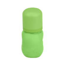 Load image into Gallery viewer, Baby Bottle made from Glass w Silicone Cover-5oz-Green-0mo+
